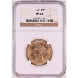 1900 $10 Liberty Head Eagle Coin NGC MS63
