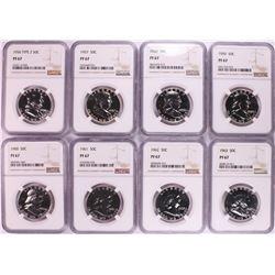 1956-1963 Proof Franklin Half Dollar Coins NGC PF67