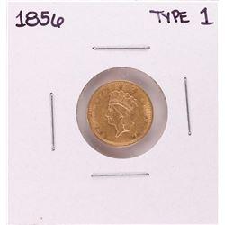 1856 Type 1 $1 Indian Princess Head Gold Dollar Coin