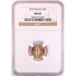 2010 $5 American Eagle Gold Coin NGC MS69
