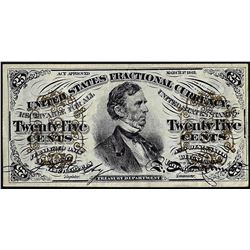 1863 25 Cents Third Issue Fractional Note