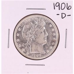 1906-D Barber Half Dollar Coin