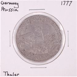 1777 Germany Prussia Thaler Silver Coin