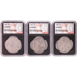 Lot of 1881-1883 $1 Morgan Silver Dollar Coins NGC Genuine