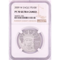 2009-W $100 Proof Platinum American Eagle Coin NGC PF70 Ultra Cameo