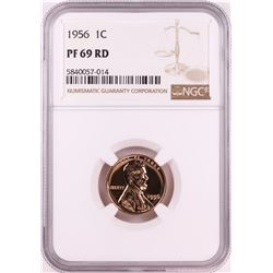 1956 Proof Lincoln Wheat Cent Coin NGC PF69RD