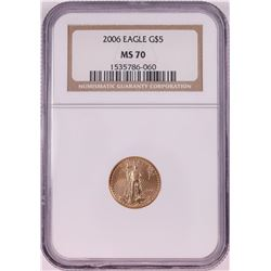 2006 $5 American Gold Eagle Coin NGC MS70