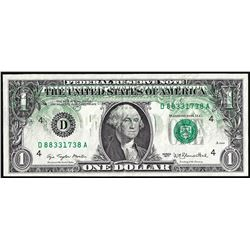 1977 $1 Federal Reserve Note Partial Offset Error