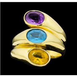 14KT Yellow Gold Ladies 4.50 ctw Semi-Precious Gemstone Ring