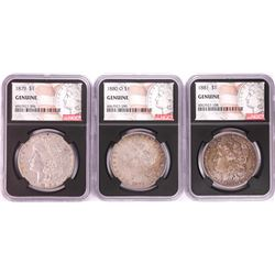 Lot of 1879-1881 $1 Morgan Silver Dollar Coins NGC Genuine