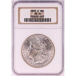 1898-O $1 Morgan Silver Dollar Coin NGC MS64