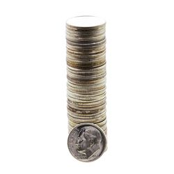 Roll of (50) Brilliant Uncirculated 1951 Roosevelt Dime Coins