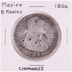 1806 Mexico 8 Reales Silver Coin Chopmarked