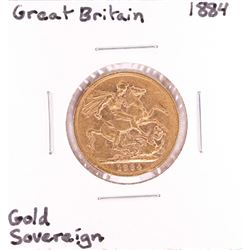 1884 Great Britain Sovereign Gold Coin