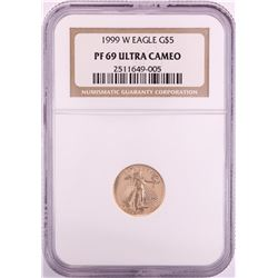 1999-W $5 Proof American Gold Eagle Coin NGC PF69 Ultra Cameo