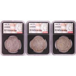 Lot of 1902-1904 $1 Morgan Silver Dollar Coins NGC Genuine
