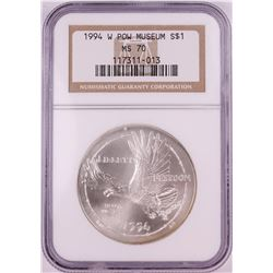 1994-W $1 POW Museum Commemorative Silver Dollar Coin NGC MS70