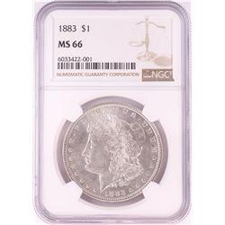 1883 $1 Morgan Silver Dollar Coin NGC MS66