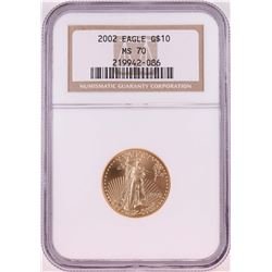 2002 $10 American Gold Eagle Coin NGC MS70