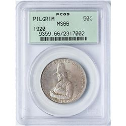 1920 Pilgrim Tercentenary Commemorative Half Dollar Coin PCGS MS66