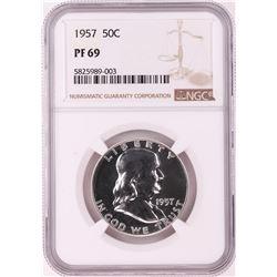 1957 Proof Franklin Half Dollar Coin NGC PF69