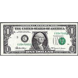 1999 $1 Federal Reserve Printing Shift ERROR Note