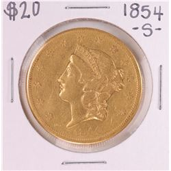 1854-S Type 1 $20 Liberty Head Double Eagle Coin
