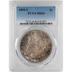 1894-S $1 Morgan Silver Dollar Coin PCGS MS64
