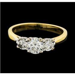 14KT Yellow Gold 1.06 ctw Diamond Ring