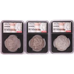 Lot of 1899-O to 1901-O $1 Morgan Silver Dollar Coins NGC Genuine