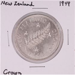 1949 New Zealand Crown Silver Coin