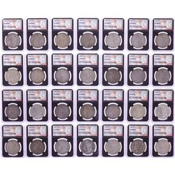 1878-1921 $1 Morgan Silver Dollar (28) Coin Date Set NGC Genuine