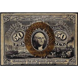 March 3, 1863 Second Issue Fifty Cents Fractional Currency Note
