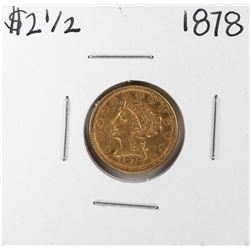 1878 $2 1/2 Liberty Head Quarter Eagle Gold Coin