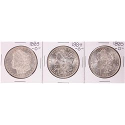 Lot of 1883-O to 1885-O $1 Morgan Silver Dollar Coins