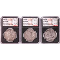 Lot of 1882-1884 $1 Morgan Silver Dollar Coins NGC Genuine
