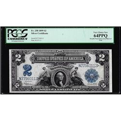 1899 $2 Mini-Porthole Silver Certificate Note Fr.258 PCGS Very Choice New 64PPQ