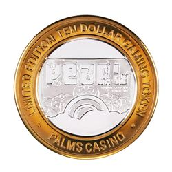 .999 Silver Palms Casino Las Vegas Nevada $10 Limited Edition Gaming Token