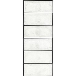 Set of (6) Federal Reserve Blank Reverse Error Notes