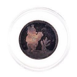 Rarities Mint Disney Winne The Pooh 1/4 oz. .999 Fine Silver Round