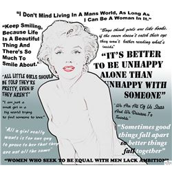 Ms. Monroe Quotes Hollywood Poster