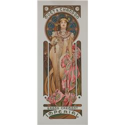 Moet Chandon/Grand Cremant Imperial, Alphonse Mucha