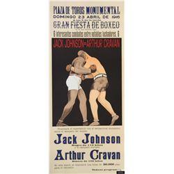 Johnson vs Cravan Sports Poster