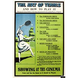 The Art of Tennis Sports Poster
