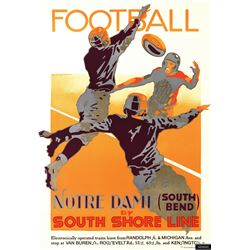 Notre Dame Football by South Shore Line Sports Poster