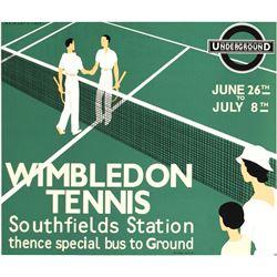 Wimbledon Tennis Sports Poster