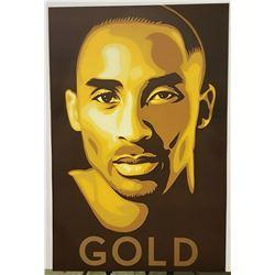 """""""GOLD"""" Kobe Bryant Sports Poster"""