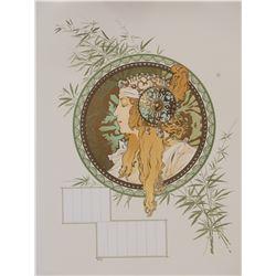 Byzantine Head: Blonde (calendar), Alphonse Mucha