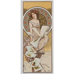 Champenois Calendar, Alphonse Mucha