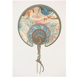Le Vent Qui Passe...(The Fan), Alphonse Mucha